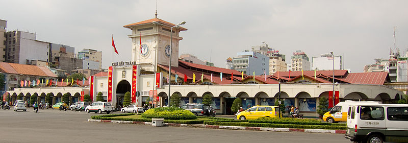 Old-and-new Saigon - Ben Thanh market